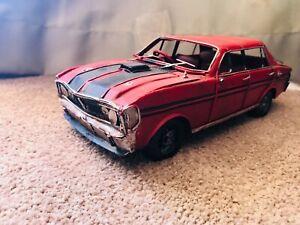 Vintage Ford Falcon XY GTHO 351 Shaker Handmade Tin Display Scale Model Car