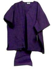 Purple Scrub Set 2Xl V Neck Top Drawstring Pants Unisex Medical Uniforms 2 Piece