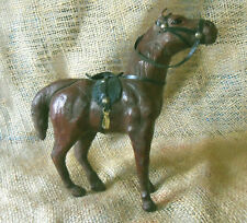 Vintage Leather Horse with Saddle Well Modeled