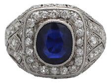 Platinum Sapphire Fine Rings