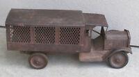 """KEYSTONE Police Patrol Packard Truck c.1926 Antique Pressed Steel 26"""" Restore?"""