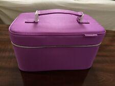 Clinique Purple Train Case And Travel Case NWOT