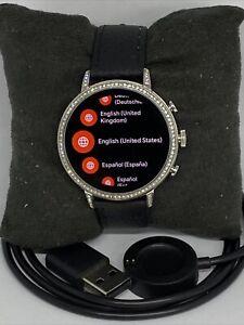 Fossil Venture HR Gen 4 FTW6013 Women's Black Leather Digital Dial Smart Watch