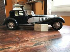 FRANKLIN MINT 1/16 1931 Bugatti Royale Coupe De Ville Dark navy/Silver Minicar
