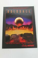 Original Bally Pinball Machine Goldball - Flyer, Brochure, Sales Ad- Original