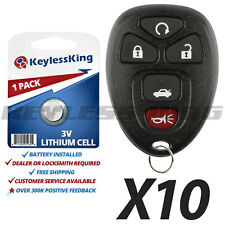 Lot 10 New Replacement Keyless Remote Key Fob Clicker Transmitter For 22733524 Fits Pontiac G6