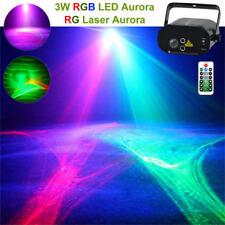 Mini RG Laser RGB LED Aurora Projector DJ Home Bar Party Wedding Stage Lighting