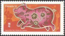 Canada 2007 YO Pig/Greetings/Animals/Zodiac/Luck/Fortune/Nature 1v (n24356)