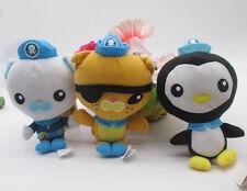 NEW Fisher-Price Octonauts captain Barnacles kwazii peso plush Toy 3pcs