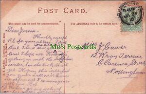 Genealogy Postcard - Carver -12 Wray Terrace, Clarence Street, Nottingham RF6973