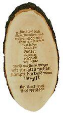 Wikingerspruch Vikings Ragnar Holzrindenscheibe Walhalla Odin Thorhammer Runen