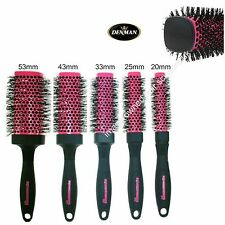 Square Squargonomic Barrel Pink Hot Curling Hair Brush Denman ALL SIZES STOCKED