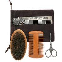4 Typen/Set Bartbürste Doppelseitig Kamm Schere Reparatur Gut Praktisch Neu