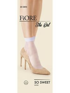 FIORE So Sweet Luxury Super Fine 20 Denier Sheer Socks - Pack of 2 Pairs