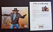 Axl Rose Guns & Roses Signed Autographed 8x10 Live Photo PSA Certified #3