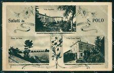 Piacenza San Polo Saluti da Ponte del Nure Villa Anselmi cartolina RT1450