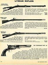 1976 Print Ad of Lyman Plains Rifle Brown Bess 1863 Zouave 1851 Squareback Navy