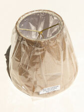 """New Burlap Small Drum Lamp Shade Clip-on 4"""" Top And 7"""" Bottom, 6"""" Tall"""