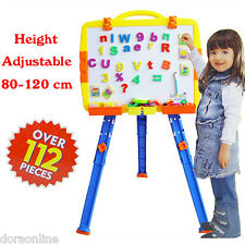 Kids Children Drawing Board With Stand Menegatic Educational Study White Board