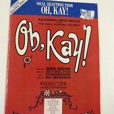 Selección vocal Oh, Kay!, George Gershwin, Guy Bolton