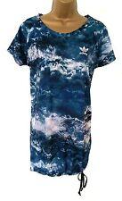 Women's BNWT Adidas Originals Night Sky print T shirt dress blue, white black 10
