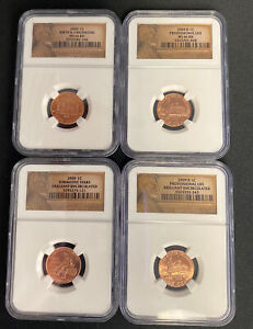 2009 Lincoln Bicentennial Cent / 4-Coin Set with 4 Reverse Varieties MS66