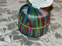 NEW MANETTO HILL YARNERY Multi-Color Rainbow Nylon Blue Yarn 50 g Italy 667009