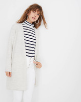 Madewell $178 Lombard Sweater Jacket Coat Boiled Wool Gray XXS XX-Small NEW NWT