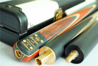 """New 57"""" 3/4 Piece SNOOKER CUE+Leather CASE Handmade 5 Face-spliced Rosewood#T3C9"""