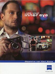 Zeiss Prospekt Objektive 2010 Photographica Katalog catalog lenses catalogue
