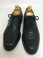 MENS BALLY BLACK LEATHER LACE UP SMART FORMAL WORK SHOES BROGUES UK 7 G