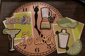 its 5 o'clock somewhere scrapbook page set photo mats and print die cut set #109