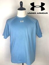 Under Armour Mens Short Sleeve Light Blue Athletic Shirt Size Large