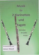 Noten für 2 Klarinetten und Fagott (Trio) von Johann Wiendl