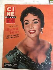 Ciné Revue N°6 du 8 février 1957 /Elizabeth Taylor - Christian Marquand