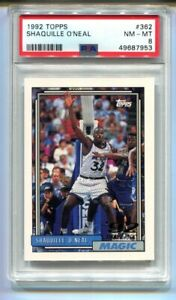 1992 Topps Shaquille O'Neal RC #362 PSA 8 NM-MT HOF