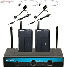 Gemini UHF- 216HL Dual Wireless Head-worn & Lavalier Microphone System