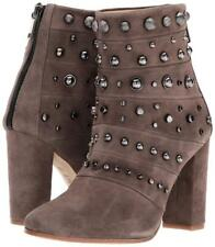 NEW Badgley Mischka Taupe Kurt Suede Studded Ankle Boots, Women Size 5, $495