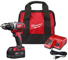 Milwaukee Drill Driver Kit 18-Volt 1/2 in. LED Charger Bag Cordless Battery