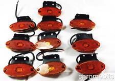 10 24V LED Outline Side Marker Amber Orange Lights Lamps Truck Lorry Bus Trailer