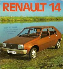 Renault 14 TL 1976-77 UK Market Sales Brochure