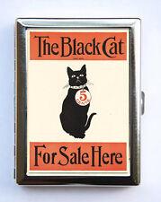 Black Cat For Sale Cigarette Case Wallet Business Card Holder