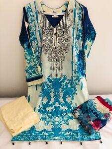 Lawn Asian Indian Pakistani Ready Made Lawn Suit Salwar Kameez shalwar S,M,L,XL
