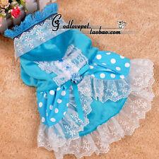 fashion dog princess dress pet lace wedding jumpsuit skirt clothes S L XL XXL
