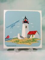 Goat Island Lighthouse Kennebunkport Maine Souvenir Trivet Down East Crafts