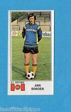 BELGIO-FOOTBALL 76-PANINI-Figurina n.329- JAN SIMOEN - OOSTENDE -Rec