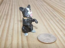 BOSTON TERRIER DOG SITTING G SCALE 1/18TH OR 1/24TH SCALE DIORAMA ACCESSORY!