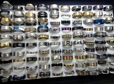 100pcs MIX Lot Men Women Fashion Stainless Steel Rings Wholesale Jewelry Job Lot