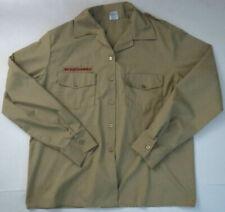 Boy scouts Of America Uniform Shirt Womens Size 16 Long Sleeve Beige Usa Made