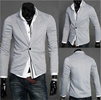 Fashion Stylish Men's Casual Slim Fit One Button Suit Blazer Coat Jacket Tops y5